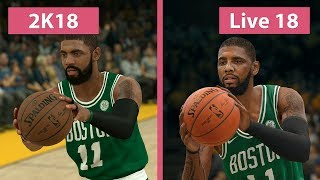 NBA 2K18 vs. NBA Live 18 Graphics Comparison on PS4