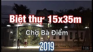 [ Siêu Biệt thự] BÁN GẤP căn biệt thự 15 ×35 gần chợ BÀ ĐIỂM đường Phan Văn Hớn