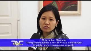 """Boletim  TV Câmara - MiniCurso """"Transparência pública e a Lei de Acesso à Informação"""""""