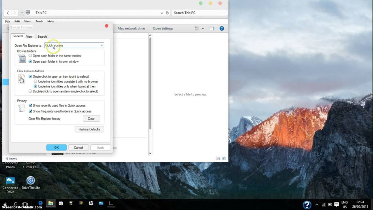 Windows 10: How To Disable And Enable Quick Access View In File Explorer Clear  Browsing