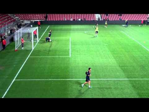 Spain national football team training 6.10. 2011 - SHOTS