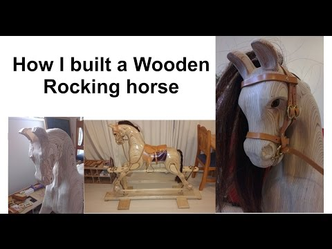 "How I built a ""Rocky"" Wooden Rocking Horse From Plans using Birch plywood + Arbortech Pro-4.."