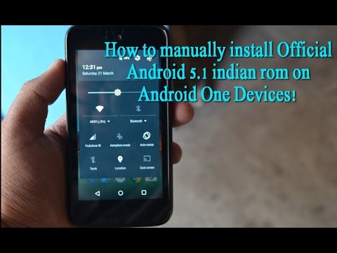 How To Manually Install Official Android 5.1.1 Lollipop ROM On Android One Devices!