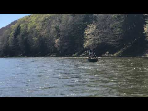 Fly fishing on the Delaware River in the One Bug competition.