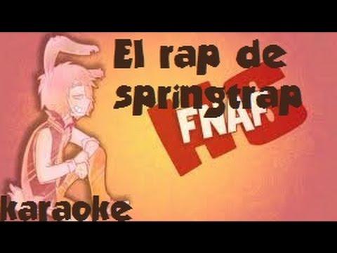 El rap de springtrap KARAOKE