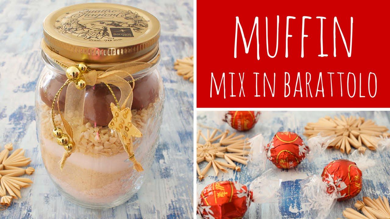 abbastanza Preparato in barattolo per Muffin alle mandorle e cioccolato  IZ85