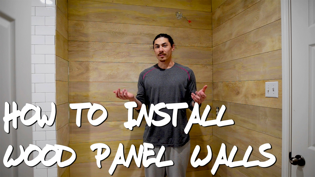 How To Install Wood Panel Walls Ep 29
