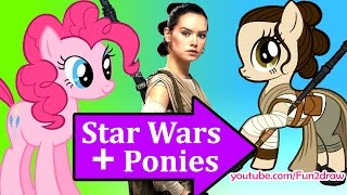 Star Wars Ponyfy: My Little Pony Character Mashup by Fun2draw