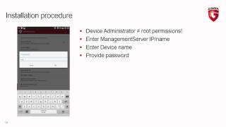 G DATA Installation Mobile Device Management Tutorial