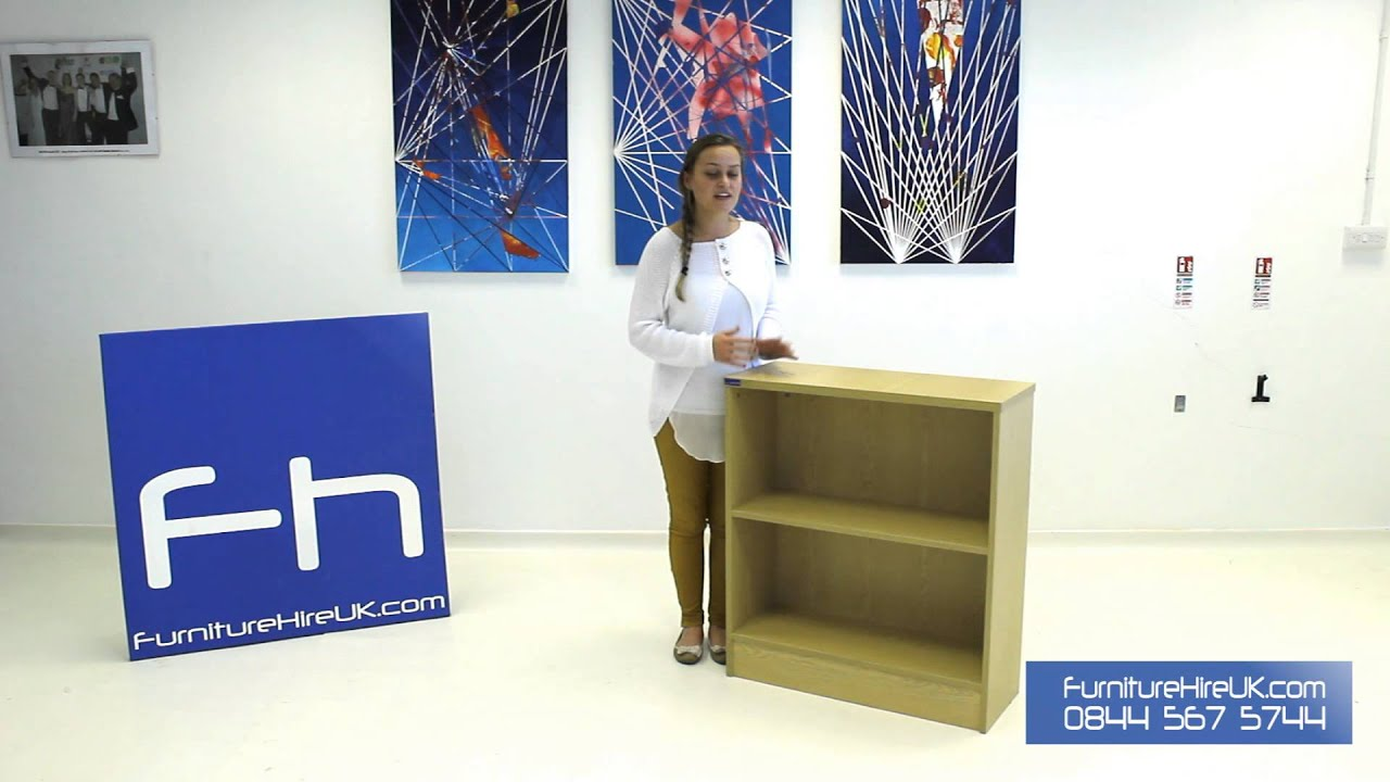 Wooden Bookcase with 1 Shelf Demo - Furniture Hire UK