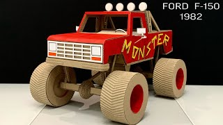 Monster Truck Ford F-150 from Cardboard