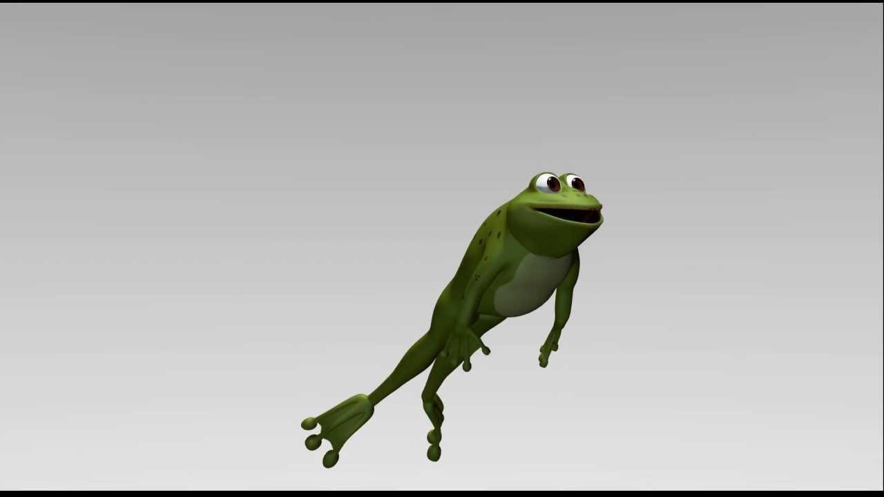 Frog animation test - YouTube