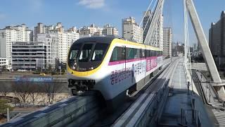 大邱都市鉄道3号線3000系 大鳳橋駅到着 대구 도시철도 3호선 3000호대 전동차