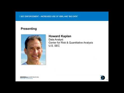 Webinar playback | U.S. SEC Enforcement: Increased Use of XBRL and Big Data