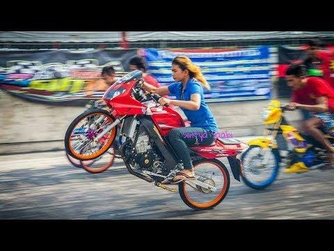 Ini Dia!! Joki Cewek TERHEBAT Thailand Drag Bike Party 2017