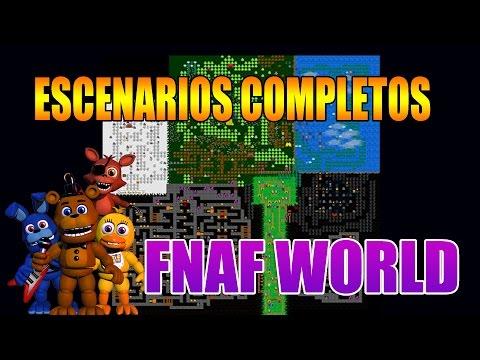 Como Desbloquear Todos los Escenarios o Mundos de FNAF WORLD