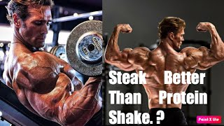 Mike O'Hearn -Best Source Of Protein | PROTEIN SHAKE VS STEAK |