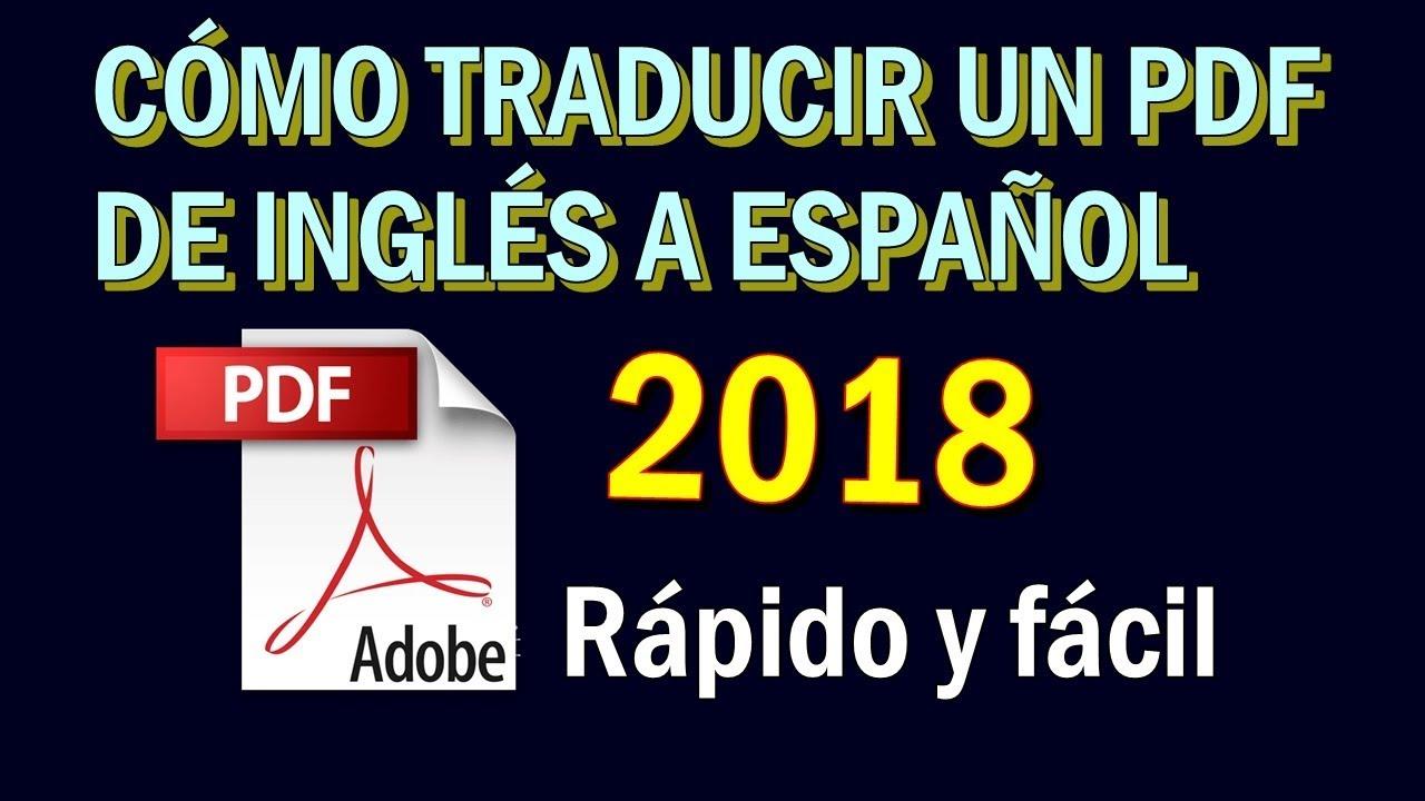 Como Traducir Un Archivo Pdf De Inglés A Español Youtube