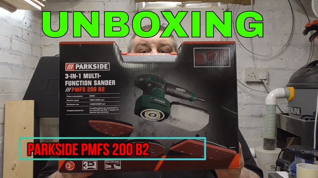 Parkside 3 In 1 Multi Function Sander Pmfs 200 B2 Unboxing