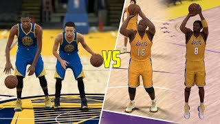 STEPHEN CURRY AND KEVIN DURANT VS SHAQ AND KOBE! NBA 2K17 GAMEPLAY!