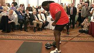 Mark Henry does the impossible and successfully lifts the infamous 172-pound Thomas Inch Dumbbell. Catch The World's Strongest Man: The Mark Henry Story, ...