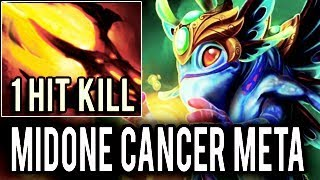 WTF MIDONE Dota 2 [Cancer Puck] 10k MMR Cancer Touch Kill Build