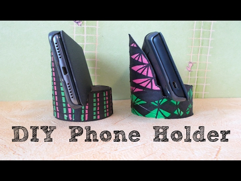 Easy paper roll craft: DIY phone holder | Maison Zizou