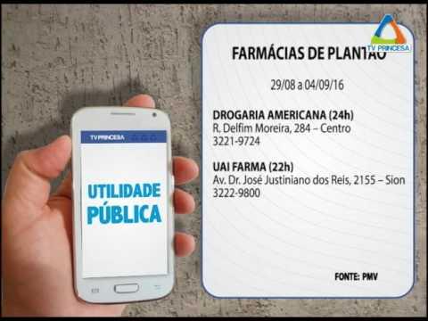 (JC 29/08/16) Farmácias de plantão