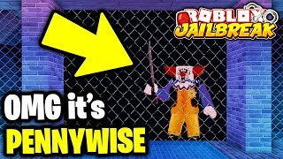 I Found PENNYWISE In The JAILBREAK SEWERS! 🤡 | Roblox Jailbreak IT Game Mode
