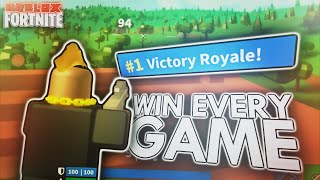 HOW TO ACTUALLY WIN EVERY GAME in ISLAND ROYALE! (Roblox Fortnite)