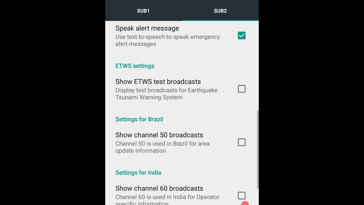 Cell broadcast deaktivieren android 9