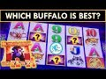 WINNING ON VARIOUS BUFFALO! WHICH BUFFALO SLOT MACHINE IS BEST?