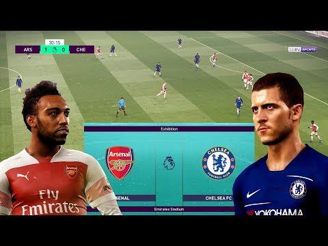 PES 2019 Realistic | 🔥 Arsenal vs Chelsea Predict - EPL 19/1/2019 ( Snow ) | Live Broadcast Camera
