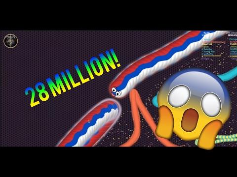 EPIC 28 MILLION SCORE WORMATE.IO   CIRCLED THE WHOLE MAP!