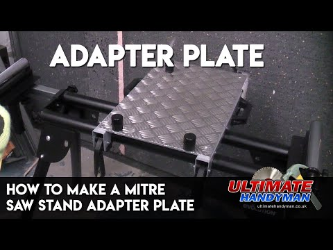 How to make a mitre saw stand adapter plate