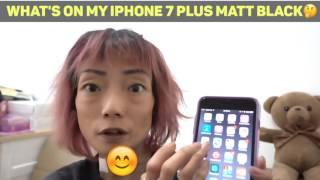What's on my IPhone 7 Plus 🤔Matt Black 256gb