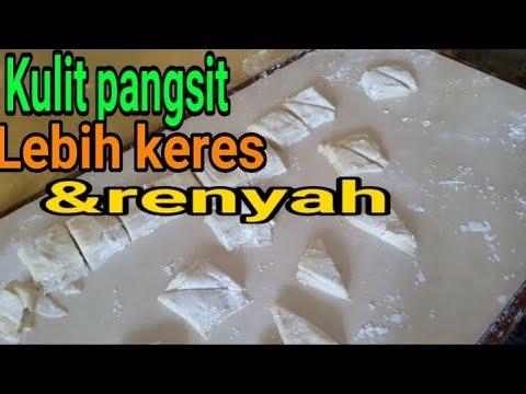 Sepesial resep kulit pangsit  yg renyah(full) cara membuat sampe selesae