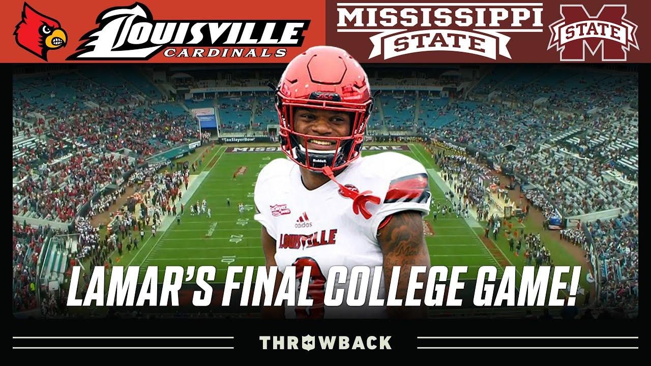 Lamar Jackson's FINAL College Game! (Louisville vs. Mississippi State, 2017 TaxSlayer Bowl)