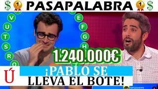 ¡Increíble! Pablo se lleva el bote de Pasapalabra y rompe a llorar en Antena 3