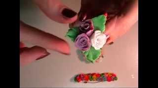 Урок №4 Розы из полимерной глины. Мастер класс. Бижутерия из пластики. Polymer clay