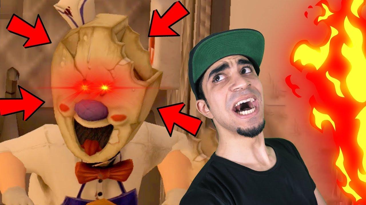 الهروب من رجل الايس كريم المرعب   Ice Scream: Horror !!