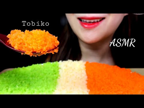 ASMR Flying Fish Roe Tobiko Eggs Eating Sounds, 날치알 먹방,