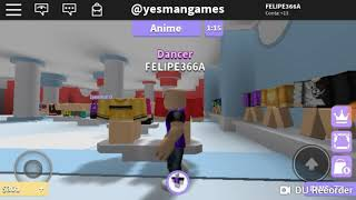 Dance competition at ROBLOX (off dance