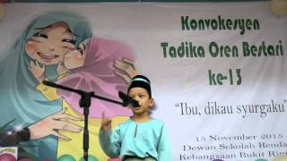 Majlis Konvokesyen Tadika Orange 2015- Tazkirah adik Naufal