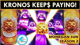 HOT MACHINE ROW! ZEUS & KRONOS UNLEASHED SLOT MACHINES - WATCH THE TITO GROW!