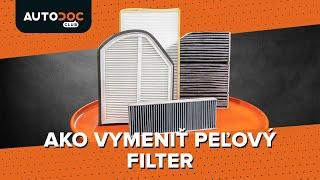 Ako vymeniť Kabínový filter na - video sprievodca