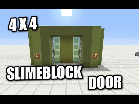 Minecraft PS4 - 4X4 SLIMEBLOCK DOOR - How To - Tutorial ( PS3 / XBOX )
