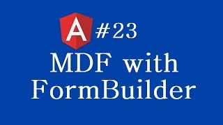 angular 2 tutorial 23 mdf with formbuilder