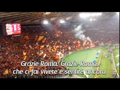 AS Roma Chants - Grazie Roma (with Lyrics)