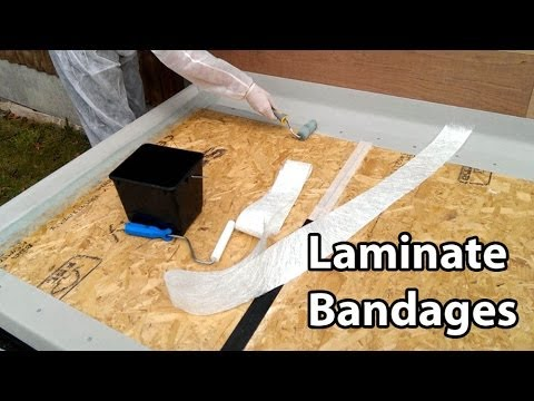 Part 3 Fibreglass Roof Bandages - Laminate Trims & Joins